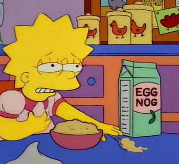 Eggnog On Cereal