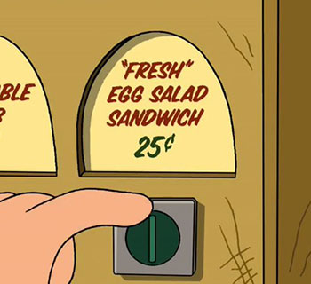 The Toilet Sandwich from Futurama