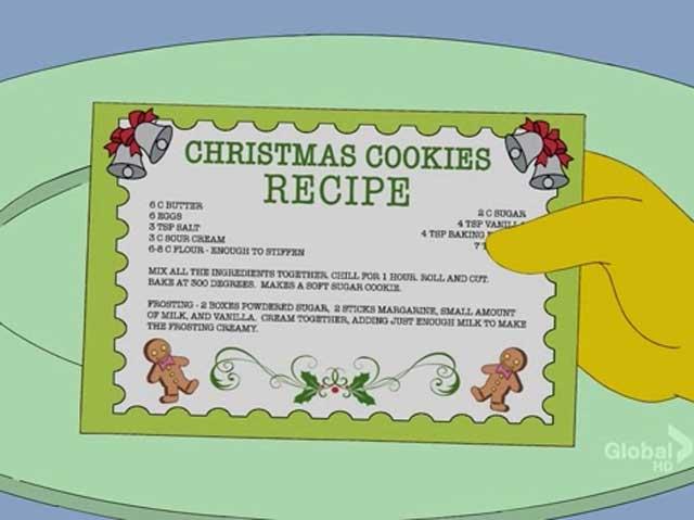 Holidays Of Future Passed Christmas Cookies Cartoon Cuisine Cartoon Cuisine