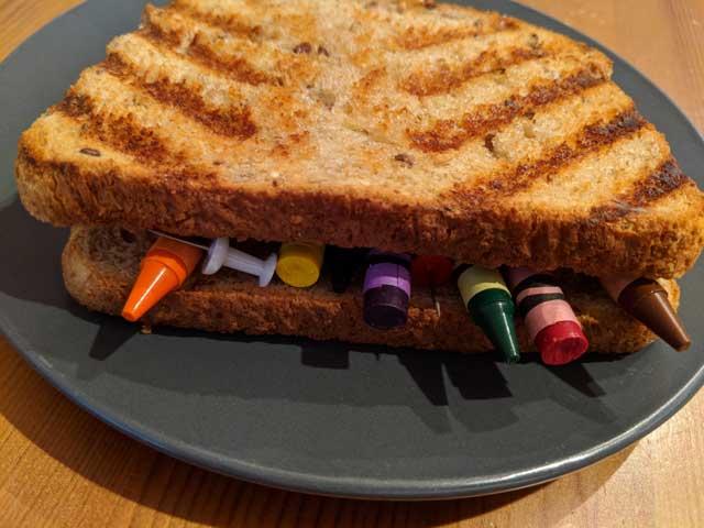 Ralphs Grilled Crayon Sandwich