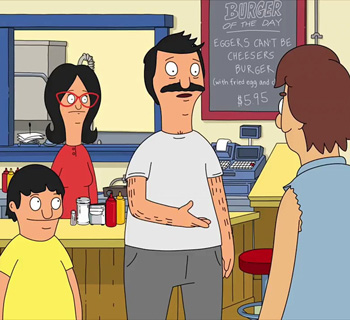 Eggers Can't Be Cheesers Burger from Bob's Burgers
