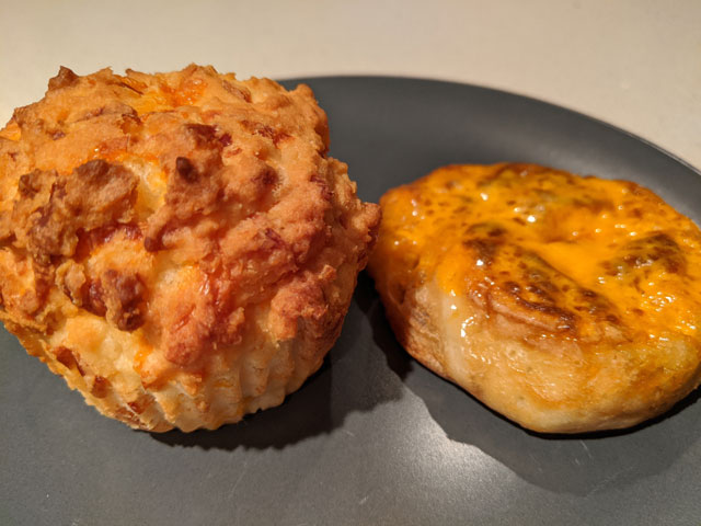Cheese Muffin and Cheese Crumpet
